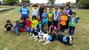 The 4 Paws crew at Corvallis Elementary School.